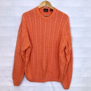 Men's Jos A Bank cable knit sweater 0363